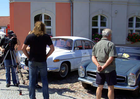 Vintage car exhibition in Templin