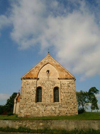 Protestant village church in Haßleben Stock Photo - 14963824