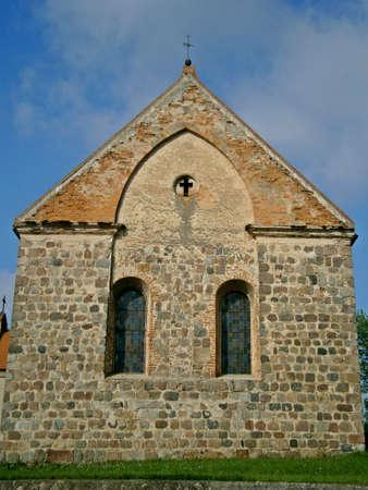 Protestant village church in Haßleben Stock Photo - 14963828