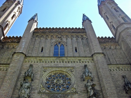 neo gothic: church in Neustrelitz