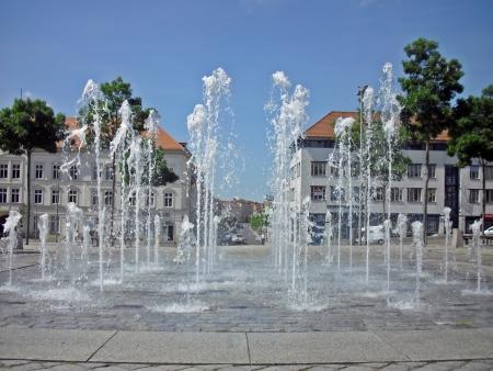 Fountain on the market of Neustrelitz