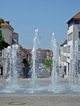 neustrelitz: Fountain on the market of Neustrelitz