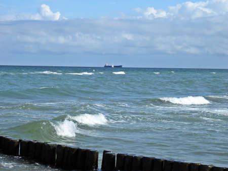 breakwater: Espig�n del Mar B�ltico Foto de archivo
