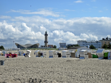 Baltic Sea beach of Warnem�nde