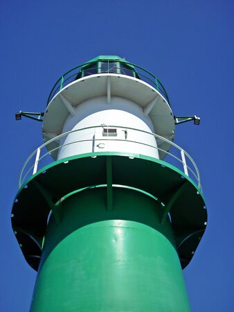 starboard: The Green Lighthouse Stock Photo