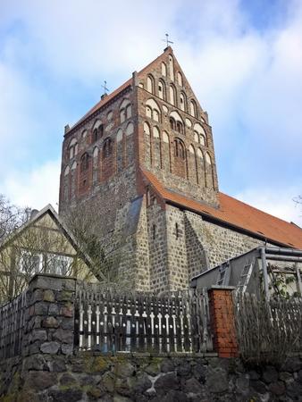 patronage: Ev  St  John s Church Lychen Stock Photo