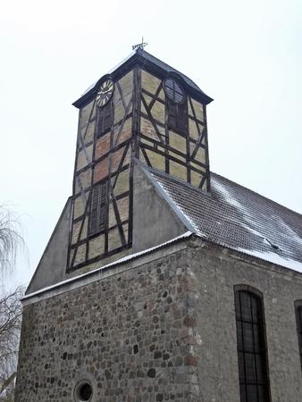 evangelical: Evangelical Church in St  sabinene Prenzlau Stock Photo