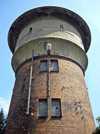 steam locomotives: Old water tower for steam locomotives