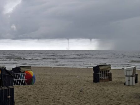 waterspout: Tornadoes before Usedom Stock Photo