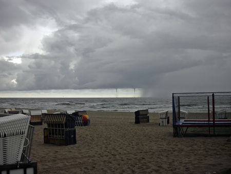 waterspout: Storm before Usedom Stock Photo