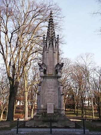 neo gothic: War memorial of 1877 in Prenzlau