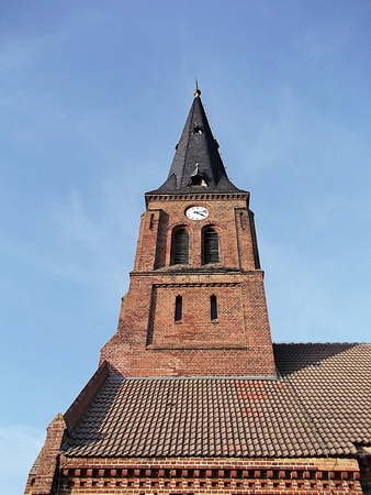 Protestant village church in Wichmannsdorf photo