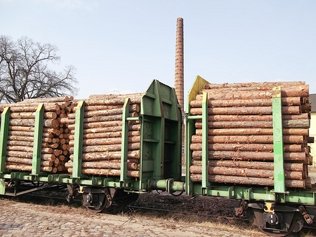 Timber transport by rail
