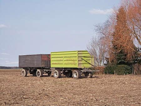 Harvest time in the Uckermark Stock Photo