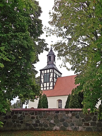 Protestant village church Stock Photo