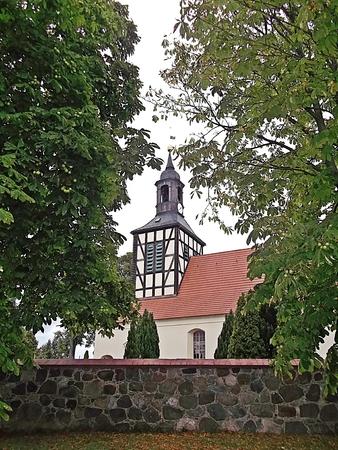 gibel: Protestant village church Stock Photo