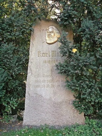 theorist: The bust of Karl Marx