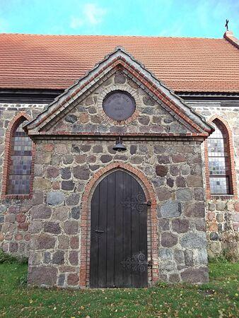 gibel: Entrance to church Stock Photo