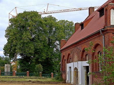 gibel: Work on the sports hall