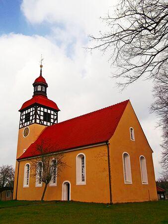 gibel: The village church Stock Photo