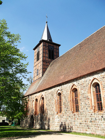gibel: Evangelical Church of Pomerania in Brussow