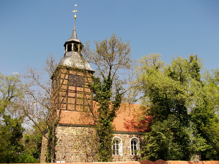 roof ridge: Evangelical Feldsteinkirche Church in Baumgarten