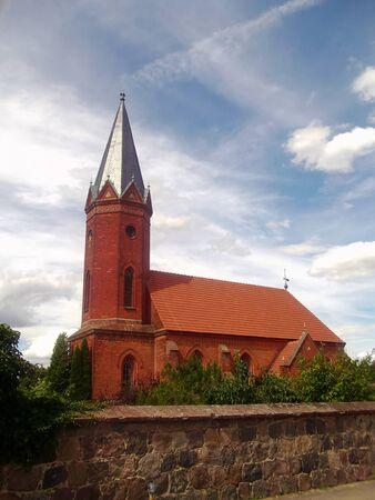 Evangelical Church Milmersdorf Stock Photo