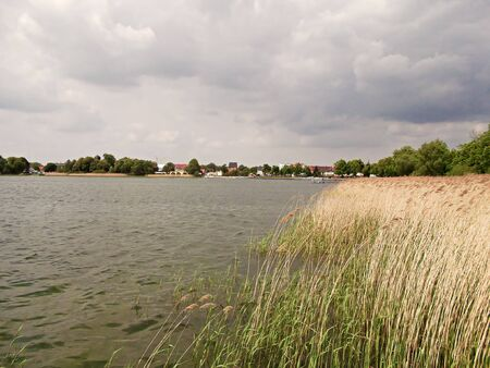 The Uckersee in Prenzlau Stock Photo