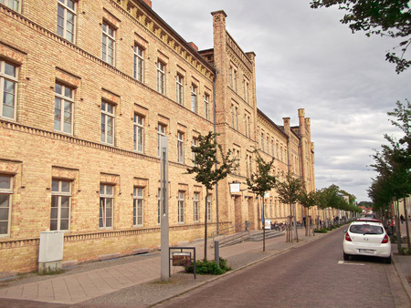 Former barracks with riding hall