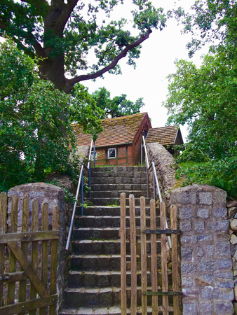 gibel: Stairs to Evangelical Lutheran Church Village