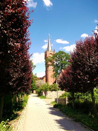 Evangelical Lutheran Church in Feldberg Stock Photo