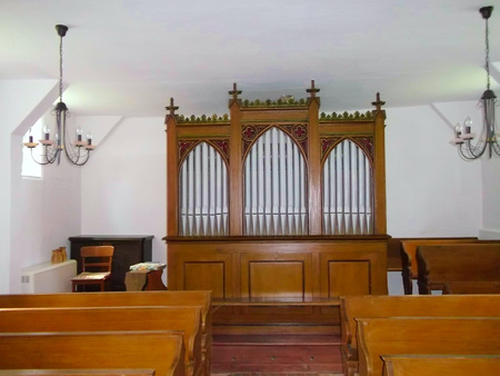 The altar in the Evangelical Lutheran village church Editorial