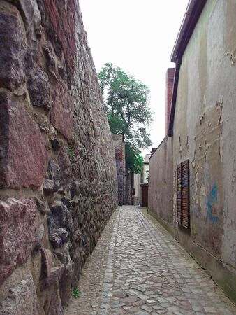 The alley on the city wall
