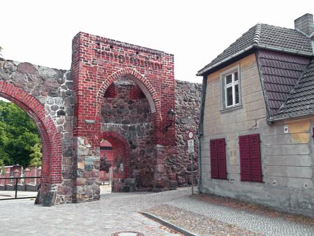 The school gate Stock Photo