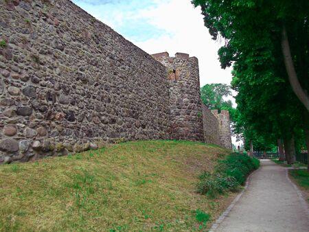 The city wall Stock Photo