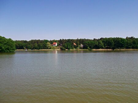 Boating on the lake Templin city