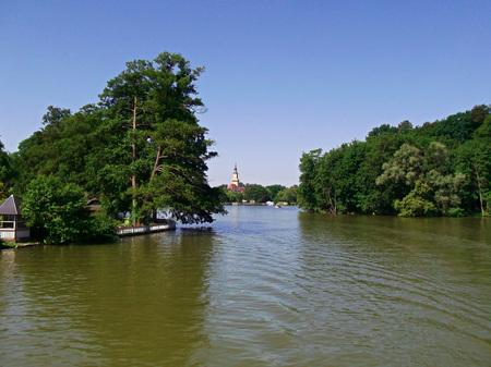 Boat trip on the lake Templin city