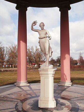 The goddess lifting Stock Photo
