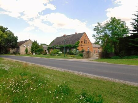 A village in the Uckermark Stock Photo