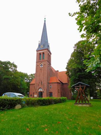 gothic revival: Evangelical church on Usedom Stock Photo
