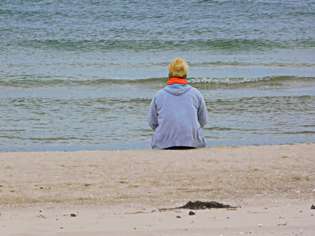 Alone on the Baltic Sea beach
