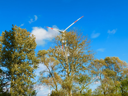 Used wind power in the Uckermark Stock Photo
