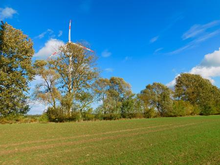 Used wind power in the Uckermark Stock Photo