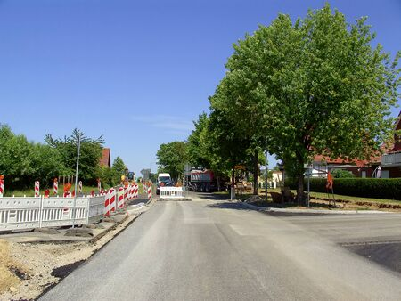 Road construction in the Uckermark