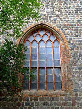 The window of the evangelical Sankt Jacobi church
