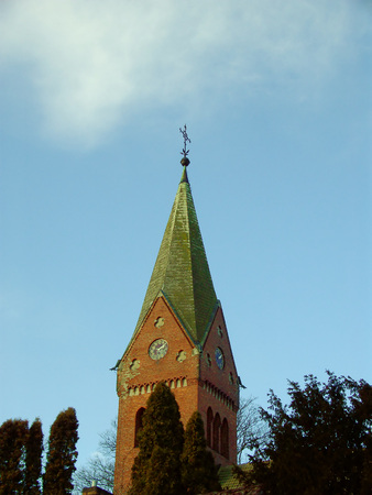 Protestant village church in Parstein Stock Photo