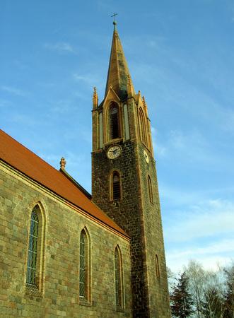Protestant village church in Hohensaaten