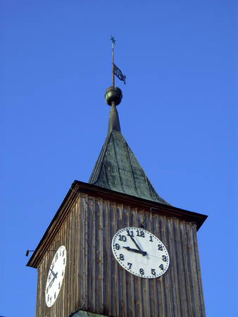 Tower of the evangelical town church