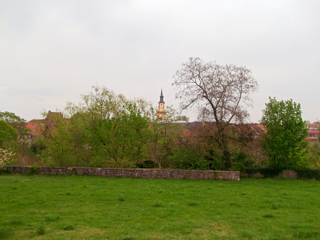 View to the historic old town of Templin