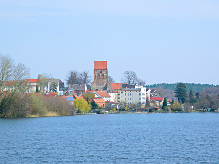 View over the city lake to Lychen